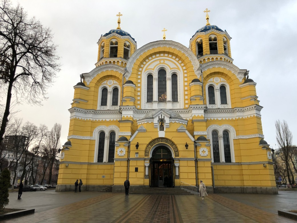Yellow church